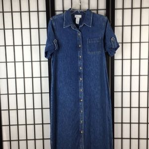 Jones New York Sport denim maxi dress 12 L